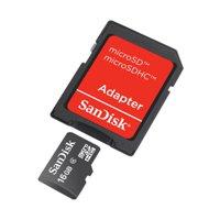 Sandisk MicroSD 16GB Class 4 + Adapter